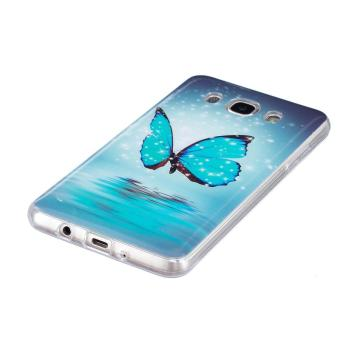 Butterfly Noctilucent TPU Soft Gasbag Back Case Cover For Samsung Galaxy J5 2016 .