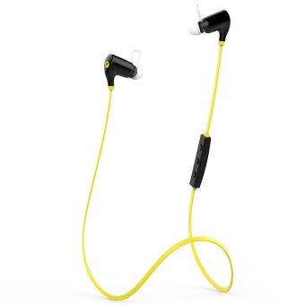QCY QY5S Bluetooth V4.1 Headset Wireless Headphone - Yellow/black