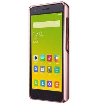 Case untuk Xiaomi Redmi 2s / 2 Prime Bumper Chrome With Backcase Mirror - Rose Gold