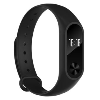 Harga M2+ OLED display Heart Rate Monitor Smartband Health Fitness Tracker for Android iOS as good as Xiaomi Mi band - intl