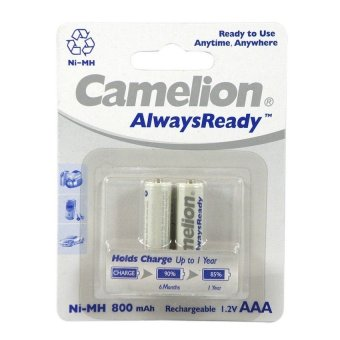 Harga Camelion Always Ready Baterai AAA Isi Ulang Battery Rechargeable 2 x 800mAh - 2 Buah