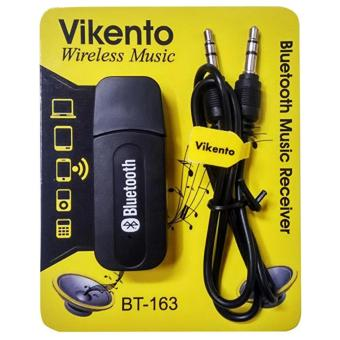 Harga Bluetooth Receiver USB Audio Dongle 3.5mm - Black