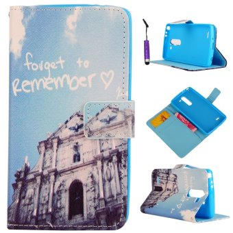 Moonmini PU Wallet Leather Case Flip Stand Cover for LG G3 Stylus D690 - Forget to