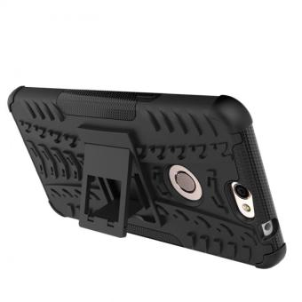 PC TPU Hybrid Armor Kickstand Case for Coolpad Max A8 930 Black .