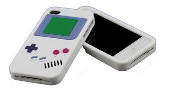 Gambar Produk Leegoal putih Nintendo Gameboy pola penutup Case silikon lembut cocok untuk New iPhone 4