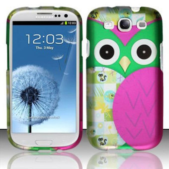Gambar Product Samsung Galaxy J3 Leegoal Hot Pink Green Cute Patchwork Owl Hard Snap