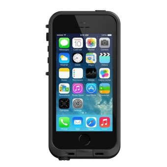 Harga Water Proof Protective Case Super Quality Ultra-slim Design for iPhone 5/5S - Hitam