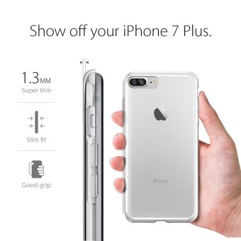 ... Softcase iPhone 7 Plus Ultrathin Aircase Putih transparant Free Tempered Glass