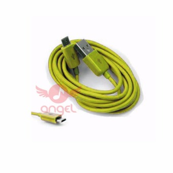 Harga Angel Candy Colour Cable Blackberry 1m Type 02- Micro USB - Kuning