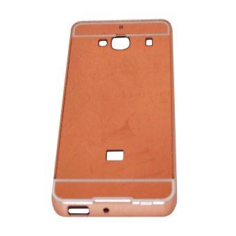 Bumper Mirror Xiaomi Redmi 2S / Redmi2 / Redmi2 Prime Alumunium Metal Sliding Hardcase - Pink