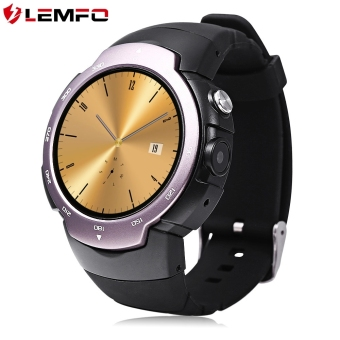 Harga LEMFO LEM3 3G Smartwatch Phone Android 5.1 MTK6580 Pedometer Built-in Camera Heart Rate Monitor Watch - intl