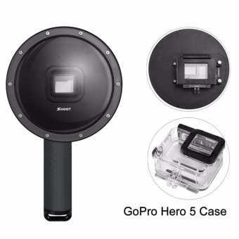 Harga Shoot 6 Inch GoPro Underwater Photography Dome Port for GoPro Hero 5 Black - intl