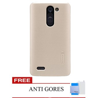 Nillkin Super Frosted Shield Hardcase for LG L Bello D335 - Gold + Gratis Anti Gores Nillkin