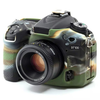 Camouflage Soft Silicone Rubber Camera Protective Body Cover Case Skin For Nikon D7200 D7100 Camera ...