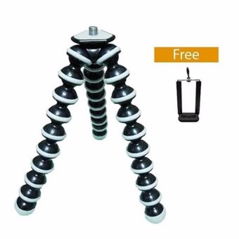 Harga Mini Tripod Flexible Tripod Gorilla Pod Octopus + Holder U - Hitam