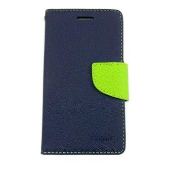 Mercury Goospery Fancy Diary Case Flip Cover Casing for Samsung Galaxy E7 - Biru Dongker