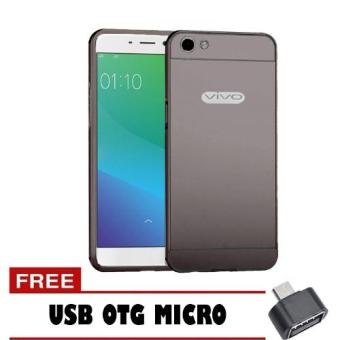 Case Metal Vivo Y55 Bumper Mirror Slide Hitam Free Usb Otg Micro .