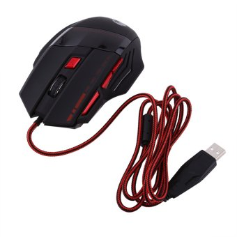 Harga Gaming Mouse Max 3200DPI Resolution USB Wired Optical Lights Game Mice For Pro Gamer - intl