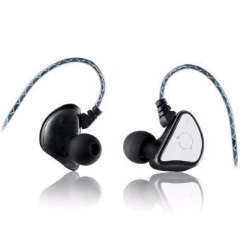 Olahraga asli Super Bass headphone di telinga headphone stereo headset dengan mikrofon pita penahan keringat tahan air untuk smartphone (Hitam) ...
