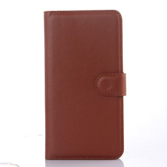 Harga Cyboris PU Leather Flip Cover for Xiaomi Redmi Note 2 (Brown) - intl