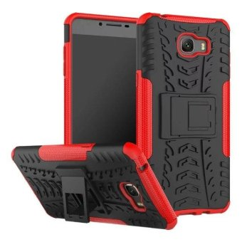 Dual Layer Shock-Absorption Armor Cover Full-body Protective Case with Kickstand Combo PC