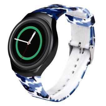 Replacement Wristband Watch Band Strap for Samsung Galaxy Gear S2 SM-R720/R730, Colorful Luxury Silicone Watch Band Strap - intl ...