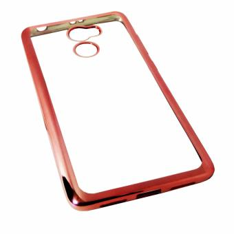 Softcase Silicon Jelly Case List Shining Chrome for Xiaomi Redmi 4 Rose Gold .
