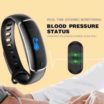 V8 Wristband Heart Rate Monitor Smart Watch Blood Pressure Monitor Bluetooth Sports Reminder Smart Bracelet For IOS And Android - intl ...