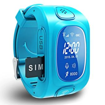 2Cool Kids Smart Watch WiFi Position Anti Lose GPS Tracker Children SOS Phone Call SmartWatch for iPhone Android(Blue) - intl - 3