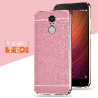 Luxus Riefen weichen Silikonhülle Fallschutz Case Cover For Xiaomi Redmi Note 4 (pink) -