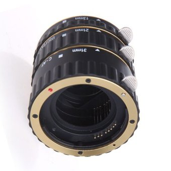 Harga Colorful Metal Electronic TTL Extension Tube Ring for Canon EOS EF EF-S 60D 7D 5D II 550Dᆪᄄgoldᆪᄅ