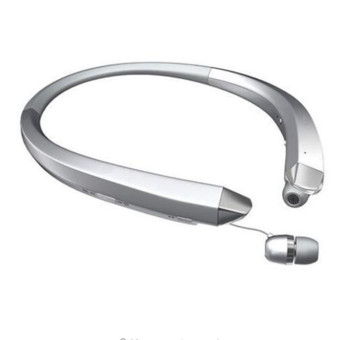 Harga HBS-910 Wireless Bluetooth Handset Wear neck-hanging sports headphones Business music earphones In-Ear Stereo for LG(Silver) - intl