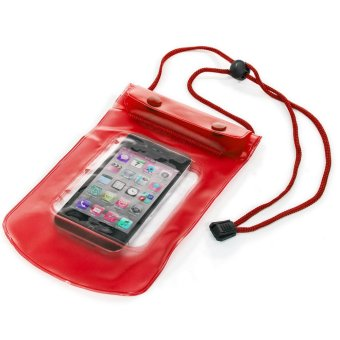 "Harga Waterproof Bag/Case for Smartphone up to 5,5"" - Pouch Anti Air - Merah"