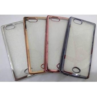 Case Shining Chrome Softcase Oppo A39 Rose Gold 3 .