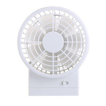 Harga Generic USB Mini Fan Double Fan - Putih
