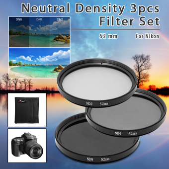 Harga XCSource ND ND2 ND4 ND8 52mm 52 mm Neutral Density 3pcs Filter Set Lens Kit LF60