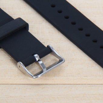 Perhiasan Silikon Band Tali Pengikat Untuk Samsung Galaxy Gear S2 SM R720 Hitam .