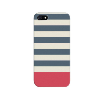 Harga Indocustomcase Blue Stripes Apple iPhone 5 - 5S Custom Hard Case