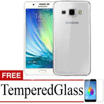Case Ultrathin untuk Samsung Galaxy A8 - Abu Clear + Gratis Tempered Glass