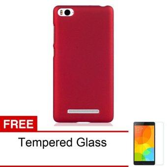 Case Hardcase Series for Xiaomi Mi4I / Xiaomi Mi4c - Merah + Gratis Tempered Glass