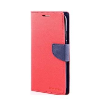 Goospery Mercury Fancy Diary Case Samsung Galaxy Mega 5.8 i9150 – Merah-Biru .