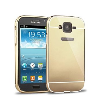 Case For Samsung Galaxy Grand Duos Bumper Slide Mirror Gold Free Tempered Glass .