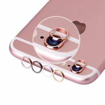 Harga Metal Phone Camera Protector Lens Metal Ring for iPhone 6 Plus / 6s Plus Rose Gold