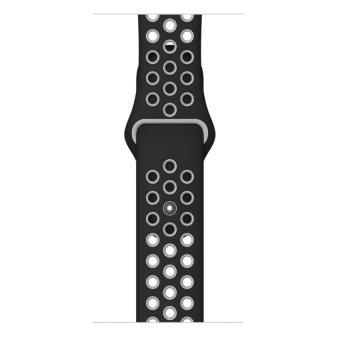 Silikon lembut perhiasan Band tali pengikat dengan konektor adaptoruntuk Apple Watch iWatch 38 mm (putih