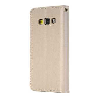 RUILEAN Leather Case For Samsung Galaxy A5 2015 Flower Skin Flip Wallet Pouch .