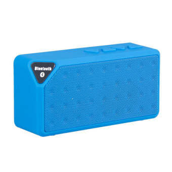 Harga Generic Speaker Portable Bluetooth X-Box X3 - Biru