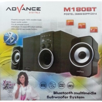 Harga Advance Speaker M180 Bluetooth Satelit and Subwoofer Speaker - Hitam