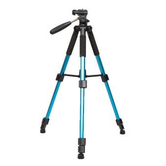 Portable Professional Travel Aluminium Tripod Monopod&Ball Head For DSLR Camera Blue - intl ...