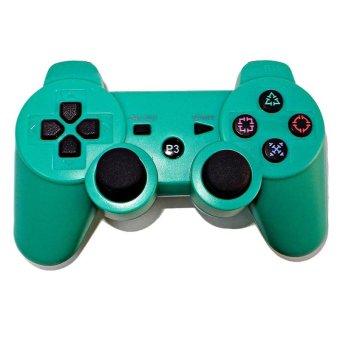 Bluetooth Nirkabel remote kontrol tuas kendali untuk PS3 (hijau) - International .