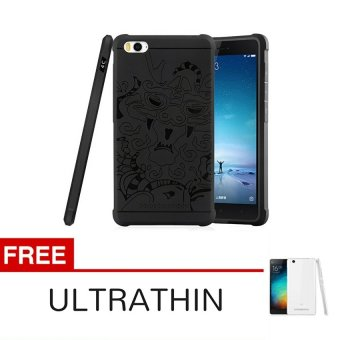 Harga Case TPU Dragon Back Cover Silikon Original for Xiaomi Mi 4i / Mi 4c - Black + Gratis Ultrathin